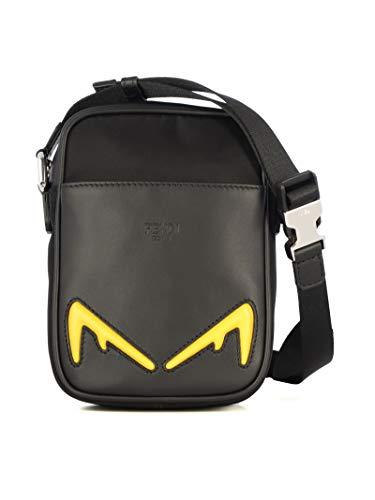 Fendi Herren 7Va456a80if0r2a Schwarz Leder Kuriertasche - Fendi Handtaschen Schwarz