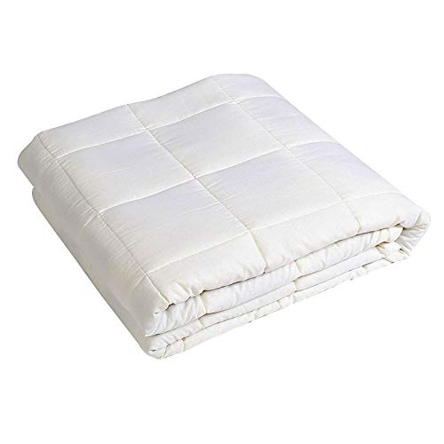 JUFENG Gewichtete Decke Für Erwachsene Schwerkraftdecke Für Angst Decke Reduzieren Sie Stress Schlaflosigkeit Entlasten Sie Die Schmerzen Schneller Schlafen,Beige-150 * 200CM(7.7KG)