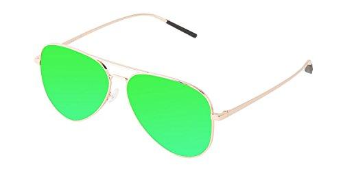 5d637ea7df4 MARSQUEST Unisex Force Polarized Gold x Neon Red Sunglasses