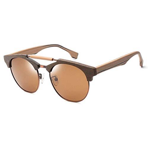 MWPO Klassischer runder polarisierter UV400-Schutz mit komfortabler aktiver Silikon-Nasenpolster-Polarisationsbrille (Farbe: BRAUN)