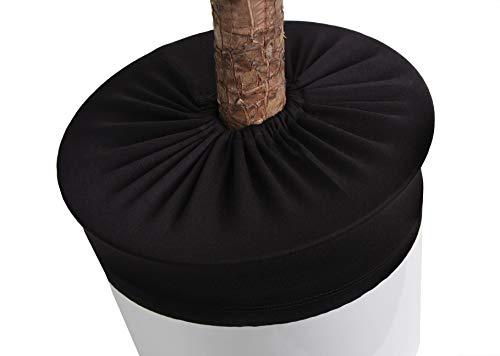 LYLANI Blumentopfschutz, innovatives Design, hochwertiger Stoff (Durchmesser: 35-37 cm, Schwarz)