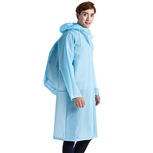 bloatboy Unisex Transparent Regenmantel, Erwachsene Trekking Im Freien wasserdichte Regenmantel Poncho Regenbekleidung mit Kapuze Regenponcho