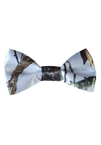 White Mossy Oak Pre-Tied Bow Tie Standard - Pretied Bow Tie