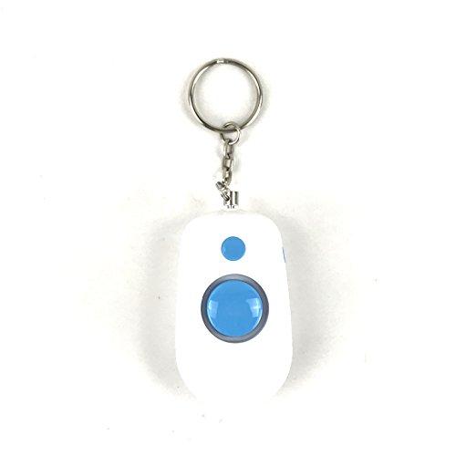 DETUCK® Notfall Persönlicher Alarm, 140DB Selbstverteidigung Elektronisches Gerät Sicherheitsalarm Schlüsselanhänger für Frauen, Kinder, Mädchen, ältere Menschen (weiß + blau)