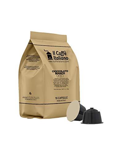 FRHOME - 48 Cápsulas compatibles Nescafé Dolce Gusto - Chocolate Blanco - Il Caffè Italiano