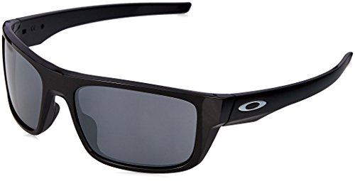 OAKLEY Herren Sonnenbrille Drop Point 936702, Schwarz (Polished Black/Blackiridium), 61