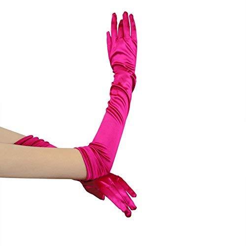 FakeFace Opernlänge Fingerspitzen Handschuh Elastischer Satin Brauthandschuhe Party Abendhandschuhe handschuhe Winter Frühling Sommer ()