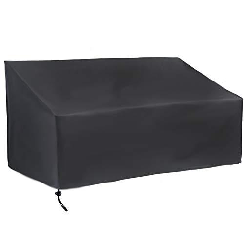 QINAIDI Patio Sitzabdeckung, Außenwasserdicht Patio Bank Cover, Fade/Fleck/UV-beständig Möbelbezüge, Sofa Loveseat Abdeckung,190x66x89cm