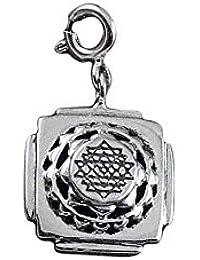 53dfbac67 fourseven Pendant in 925 Sterling Silver   Shri Yantra Charm   Unisex  (Auspicious Gift for