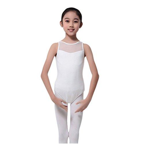 Mädchen Camisole Leotard (EFINNY Mädchen' Mesh Slim Tank Dancing Ballet Camisole Leotard)