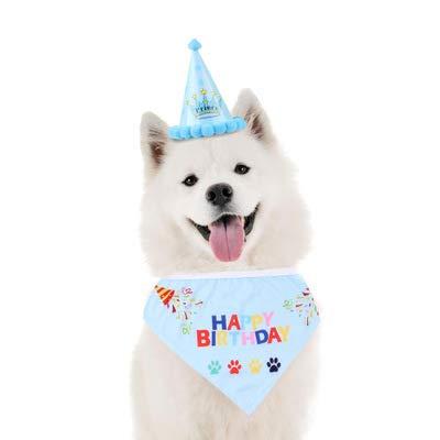 YUET Perros Gatos Perros Gato Gorro Cumpleaños Bandana