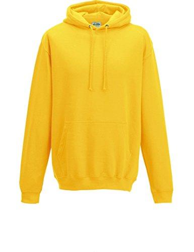 Just Hoods - Unisex College Hoodie/Sun Yellow, 3XL