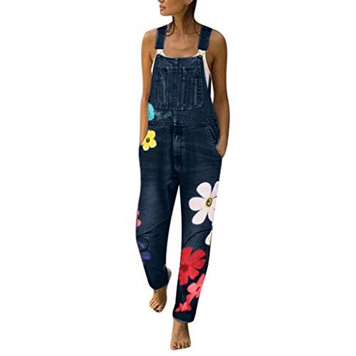 Jeans-overalls Damen Dasongff Casual Printing Denim Jumpsuit Baggy Hose Boyfriend Latzhose Latzjeans Jumpsuit Overall Spielanzug Latzhose Jeans -