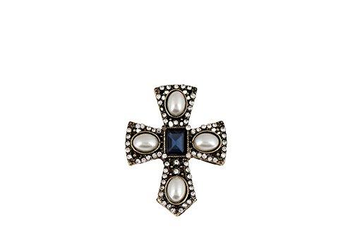 spilla-flip-croce-di-tolosa-placcato-bronzo-vintage-cristallo-blue-royal-rettangolare-perline-ovale-
