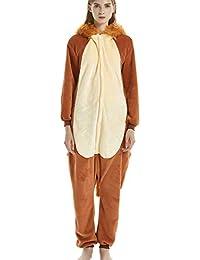 67d3d6561c Pijamas de una Pieza Unisexo Adulto Cosplay Traje Disfraz Animal Pyjamas  Ropa De Noche Halloween y