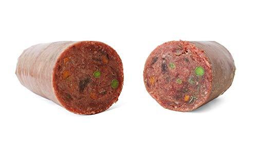 TACKENBERG XL-Barf Menü vom Geflügel mit Rind - Natürliche Frostfleisch für Hunde, 14 x 1000 g