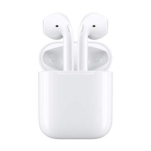 Écouteurs bluetooth airpods sans fil, casque audio avec station de recharge, Iphone, Samsung et kit mains libres(500mAh chargeur,Blanc