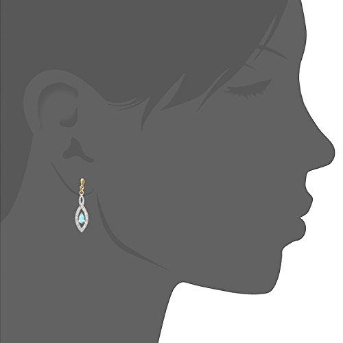 Naava Damen-Ohrhänger Twist Tropfen Ohrringe 375 Gelbgold teilrhodiniert Tropfenschliff - 3