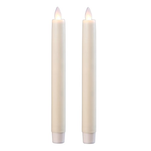 2pieza SOMPEX Vela LED de cera con temporizador Color Marfil Liso