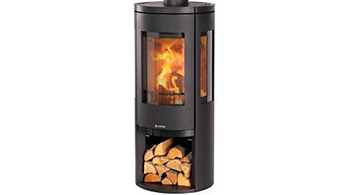 Preisvergleich Produktbild COLOR EMAJL Kaminofen Glasgow, Stahl, schwarz, 6 kW, Dauerbrand