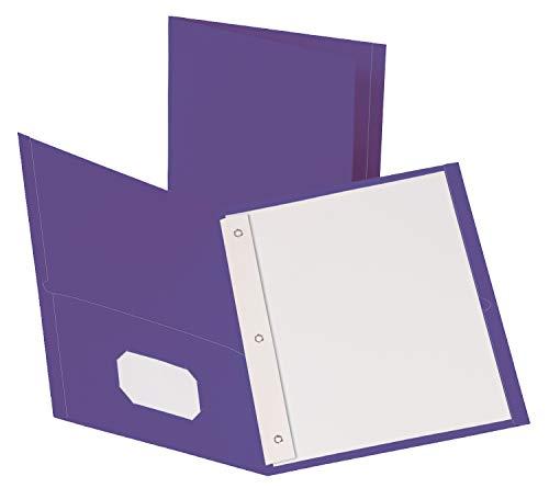 Oxford 57783 Mappen mit 2 Taschen, mit Verschlüssen, Violett, Briefgröße, 10 Stück Oxford 2 Tasche