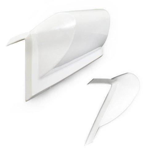 [pro.tec] PVC Stegfender (45 cm) Kanten - Fender (weiß) Puffer / gerade