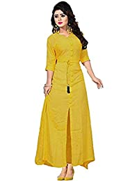 2b2f4df2f1 Amazon.in: Yellows - Dress Material / Ethnic Wear: Clothing ...