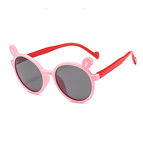 ZHAOSHUNAN Sonnenbrillen Silicone Children Polarized Sunglasses Square Boys Girls Glasses Soft Safety Sunglasses,F