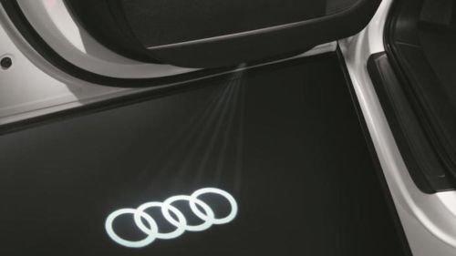 "Original Audi LED Einstiegsbeleuchtung \""Audi Ringe\"" mit breitem Stecker"