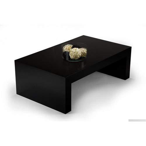 Mobili Fiver, First H30 Table de Salon, Bois, Noir Laqué Brillant, 90 x 54 x 30 cm