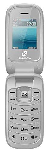 Konrow K-Flip Téléphone à Clapet...