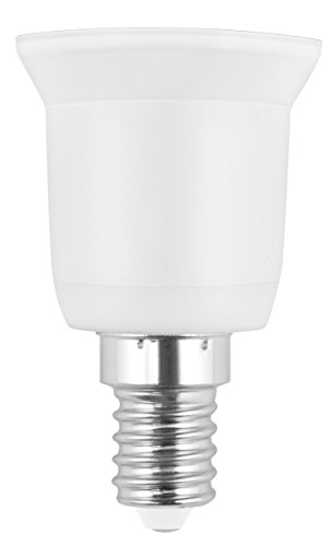 mumbi Lampensockel Adapter E14 auf E27 Lampenfassung