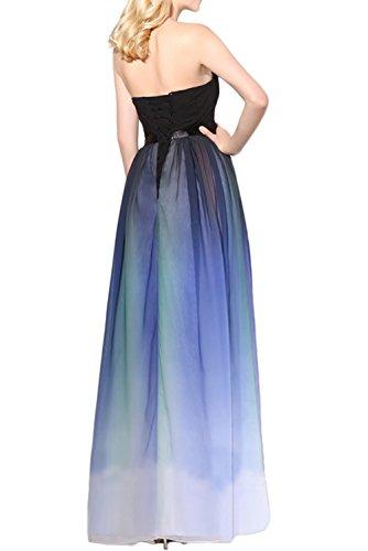 Gorgeous Bride Abendkleider Elegant Lang 2017 Damen Chiffon A-Linie Ballkleider Festkleider Cocktailkleider Mehrfarbig V