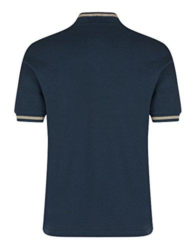 Herren Fred Perry hergestellt in England Single Poloshirt–petrol blau Blau