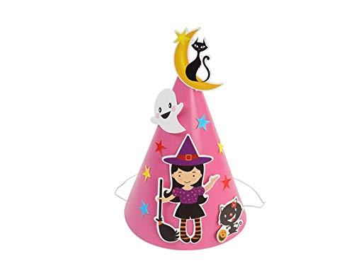 DOOUYTERT Künstliche Blumen Kürbis Papier Hut Katze wies Hut für Halloween Ostern Weihnachten Kostüm Zubehör (Gecko Hut 1) Hochzeitssträuße (Farbe : Black Pink, Größe : 14.5x21cm)