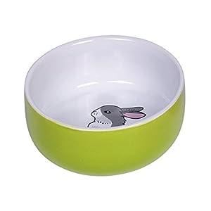 Nobby 73751 Keramik NAPF Rabbit, Grün/Weiß