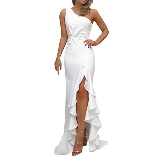 Innerternet Damen Schulterfreies Kleid als Abendkleid Partykleid Silvester -