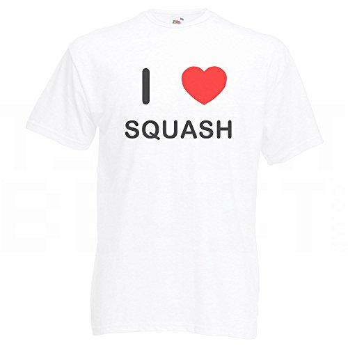 I Love Squash - T-Shirt Weiß