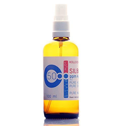 100ml Kolloidales Silber - Sprühflasche/Spray (100ml / 50ppm) Reinheit & Qualität seit 2012 - Jod-spray