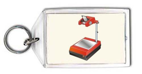 SHOPZEUS Schlüsselhalter mit der Grafik: Overhead-Projektor