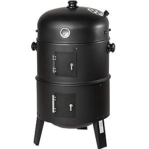 TecTake Barbacoa Barbecue Grill con Carbón Vegetal Parrilla Fumador – Varios Modelos – (3en1 BBQ Fumador/Parrilla | no…