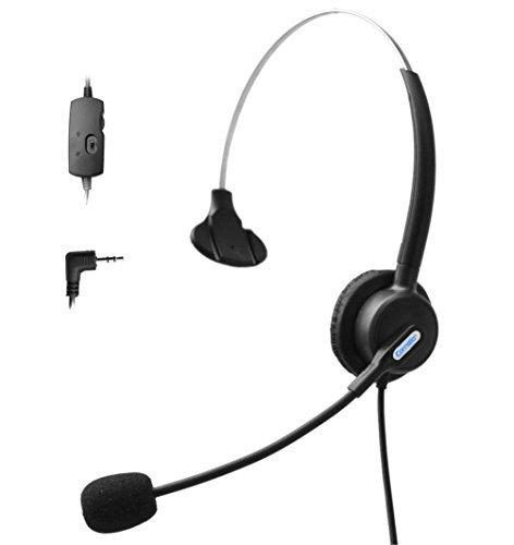 comdio Draht Hände frei Telefon Headset mit Volume Stummschaltung, Noise Cancelling Mikrofon, Callcenter Headsets für Cisco IP-Telefone 79027906G 7910Avaya 160816169608G (ch203vg) Mono H103VP6