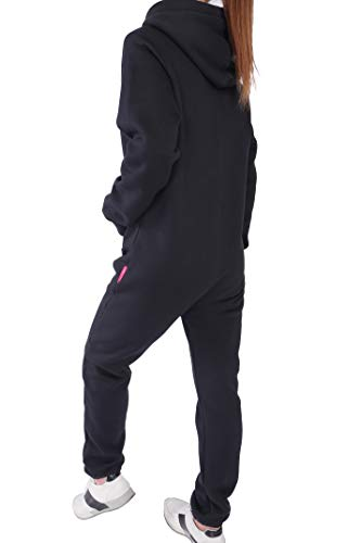 Finchgirl Damen Jumpsuit Jogger Trainingsanzug in Schwarz - 2