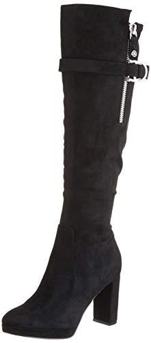 Guess ABALENE2/STIVALE (Boot)/Fabric, Botas Altas para Mujer, Gris Grey, 36 EU