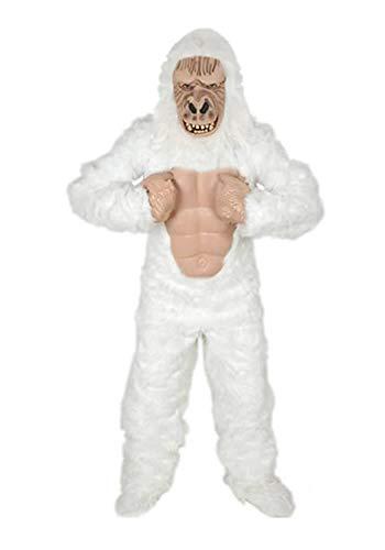 Kostüm Weiße Gorilla - Yeti Gorilla weiss Affe Einheitsgrösse XXL Kostüm Fasching Karneval Fastnacht