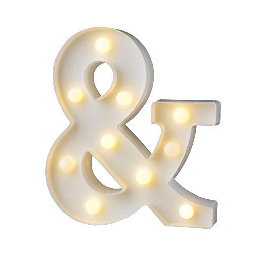 ef Ziffern Lampe Alphabet Buchstabe Nachtlichter (A-Z,0-9) Dekorativer Beleuchtung Lichter, für Geburtstag Party Hochzeit Empfänge Ferienhaus Bar (&) ()