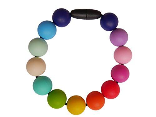 Preisvergleich Produktbild Rainbow Silikon Zahnen Armband Wristlet Stillen Baby Still Perlen BPA-frei, Hand von milkmama