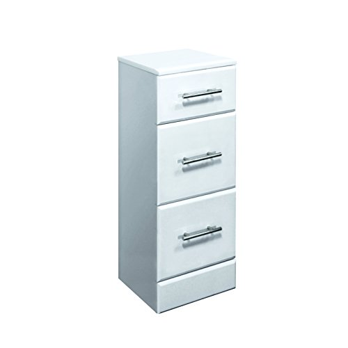 Trueshopping Gloss White Bathroom Furniture Storage Drawer Unit 350(W) X 330(D)