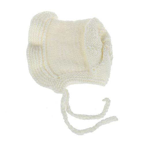 Easy Go Shopping Chapeau de bébé Automne Hiver tête de Curling Doux et Chaud Mignon Chapeau pour Enfants Mignons approprié pour 0-2 Ans (Couleur : Blanc)