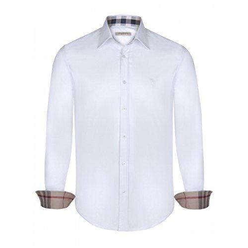 BURBERRY Camicia Uomo Manica Lunga Colore Bianco (L)